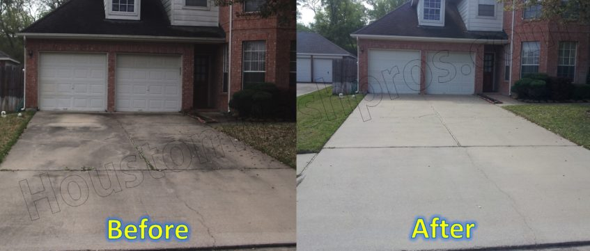 Pressure washing houston washpros for Driveway pressure washer