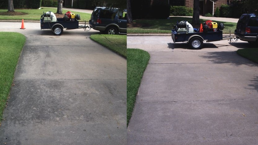 Pressure washing power washing houston tx pressure for Clean driveway without pressure washer