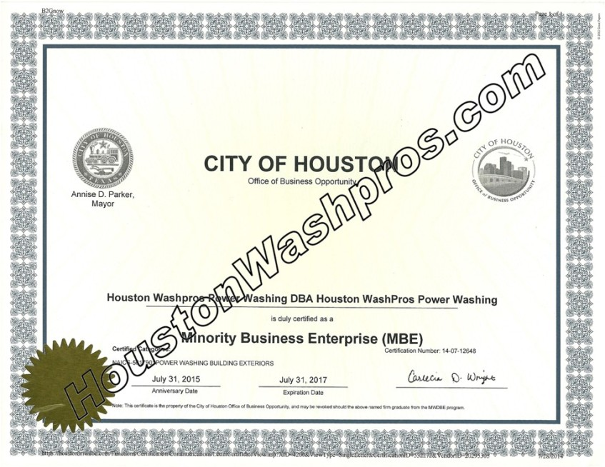 City Of Houston Office Of Business Opportunity Minority Business