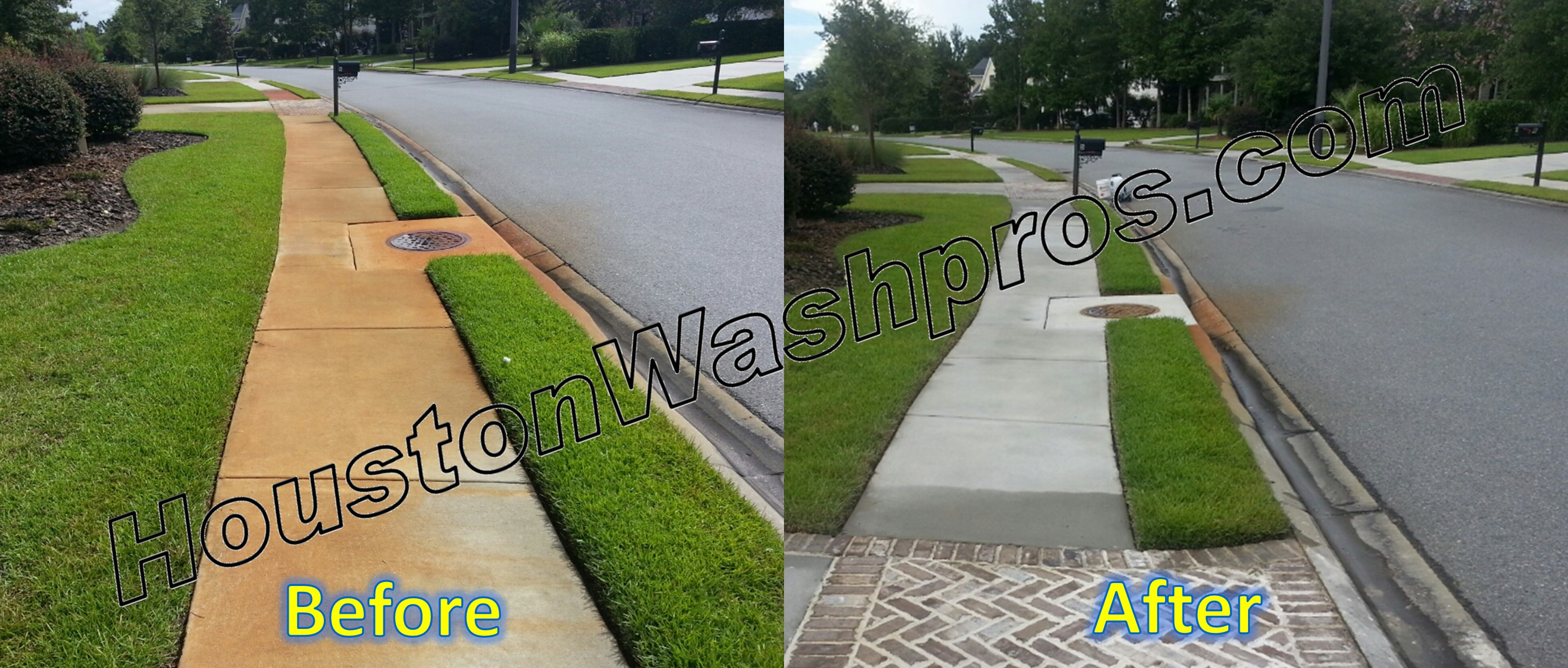 Pressure washing houston pressure washing houston washpros for Clean rust off concrete patio